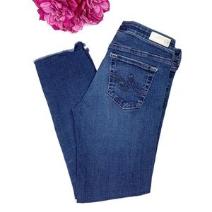 AG ADRIANO GOLDSCHMIED Stilt Crop Cigarette Jeans